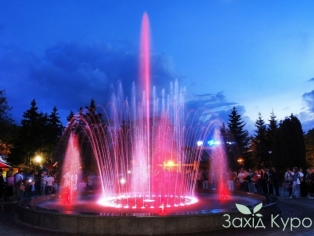 Курорт Миргород - музыкальный фонтан