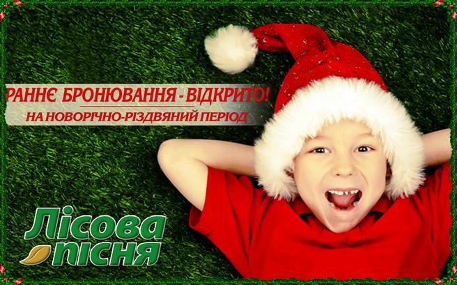 """Раннее бронирование новогодних праздников в отеле """"Лесная песня"""""""